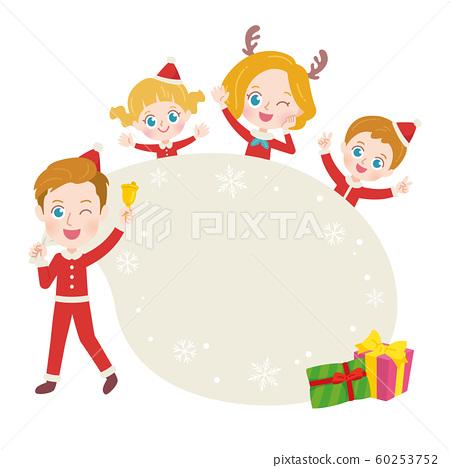 외국인 가족 크리스마스 일러스트 60253752
