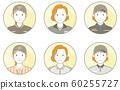 Person icon_contour line_profession_woman 08 60255727