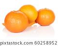 Fresh orange mandarin isolated on white 60258952