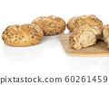 Sesame kaiser roll isolated on white 60261459