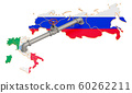 Russia-Italy gas pipeline, 3D rendering 60262211