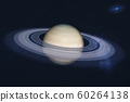Planet Saturn of solar system closeup in the 60264138