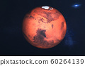 Mars planet of solar system closeup in the space. 60264139