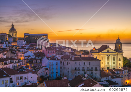 skyline of lisbon, the capital of  portugal at 60266673