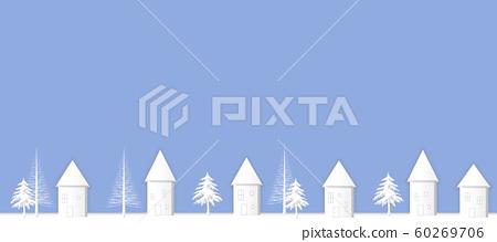 Winter city, cityscape in winter 60269706