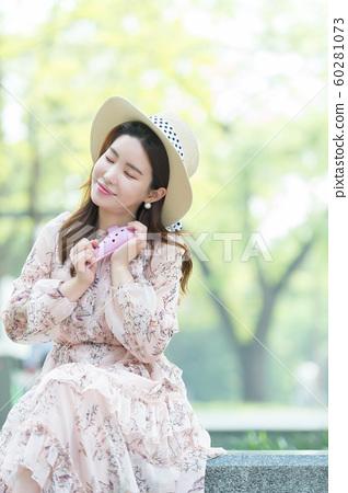 아름다운 대한민국 여성의 표정, 공원 산책 60281073