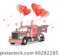 Adorable cat on the truck of love 60282285