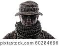 Experienced commando army military soldier studio portrait 60284696