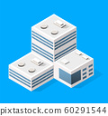 Cityscape design elements with isometric building 60291544