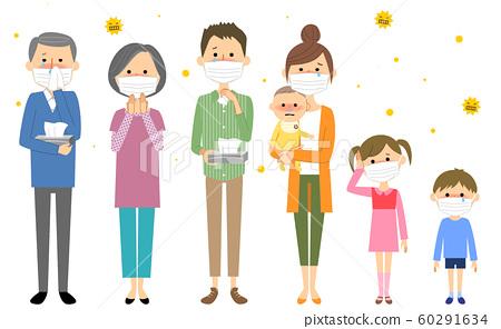 Family hay fever allergy 60291634