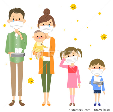 가족 꽃가루 알레르기 60291636