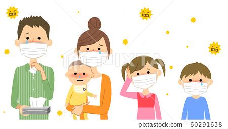 家庭花粉症過敏 60291638