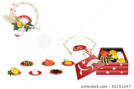 Illustration of a seasonal dish on paper placemat