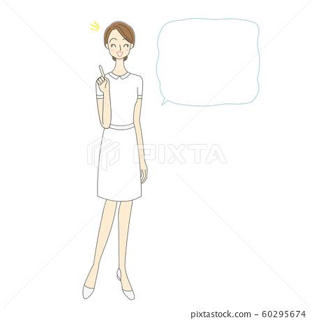 一名護士和講話泡泡插圖 60295674