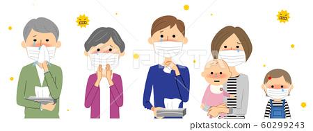 家庭花粉症過敏 60299243