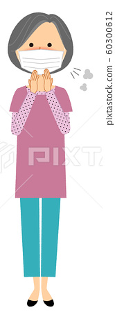 시니어 여자 감기 독감 60300612