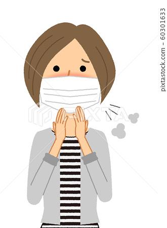 年輕女子感冒流感 60301633