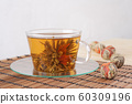 Green tea with lily flower 60309196