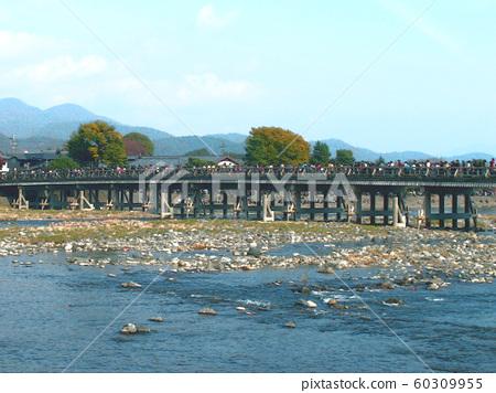 Arashiyama Togetsukyo Bridge and Katsura River 60309955