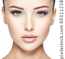 Beautiful face of young woman with  health fresh 60311238