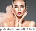 closeup face of a fashion woman with stylish 60311637