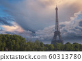 Eiffel Tower in Paris, France 60313780
