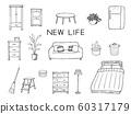 客廳室內家具筆繪圖集 60317179
