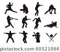 棒球运动员剪影2 60321066