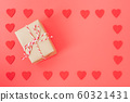 Valentine's Day background, Top view Flat lay Red 60321431