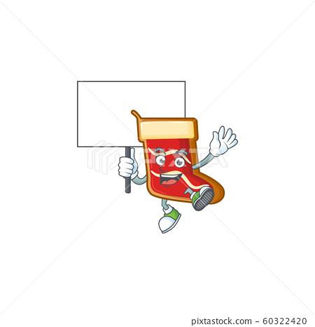 Smiling santa shoes cookies cute cartoon style bring board 60322420