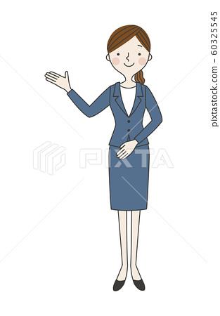 猩紅色的西裝的女人01 60325545