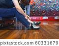 抱石運動鞋穿著婦女婦女人準備運動伸展室內工作室 60331679