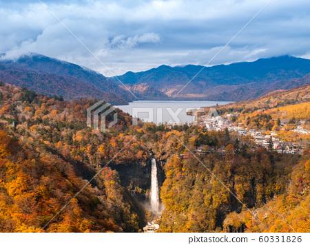 Kegon waterfall with autumn tree and mountain in Nikko, Japan 60331826