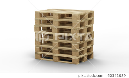 Some standard wood pallet straight stacked 60341089
