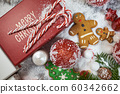 Christmas background or xmas greeting card. Red 60342662