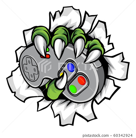Monster Gamer Claws Holding Games Controller 60342924