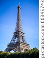 Eiffel Tower view from the Seine, Paris 60345743
