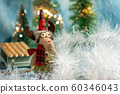 Reindeer with festive Christmas holiday background 60346043