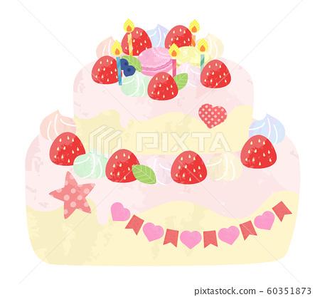 可愛的裝飾蛋糕/生日蛋糕 60351873