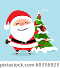 Christmas Greeting Card with Christmas Santa Claus 60356925