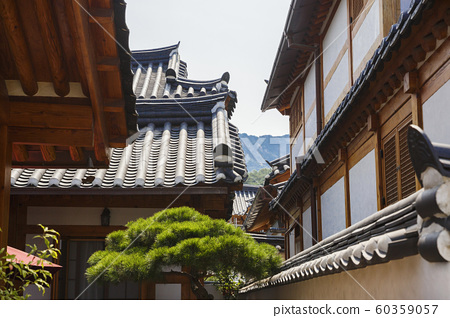 Traditional Korean style architecture, Hanok Village landscape 211 60359057