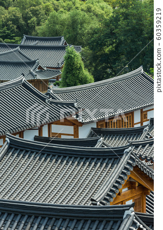 Traditional Korean style architecture, Hanok Village landscape 044 60359219