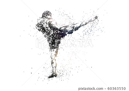 kickboxing abstract silhouette 1 bitmap ver. 60363550
