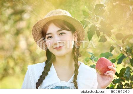 農業女性生活方式蘋果 60364249