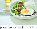 Hamburger one plate food 60365418