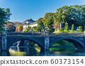 Edo Castle Fushimi Pass and the main gate stone bridge (double bridge) 60373154