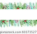 Watercolor floral green background 60373527
