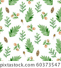 Seamless pattern with evergreen plants. 60373547