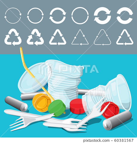 Vector Recycling Signs 60381567