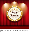 Cinema Theater vector and circle sign gold light up  60382495